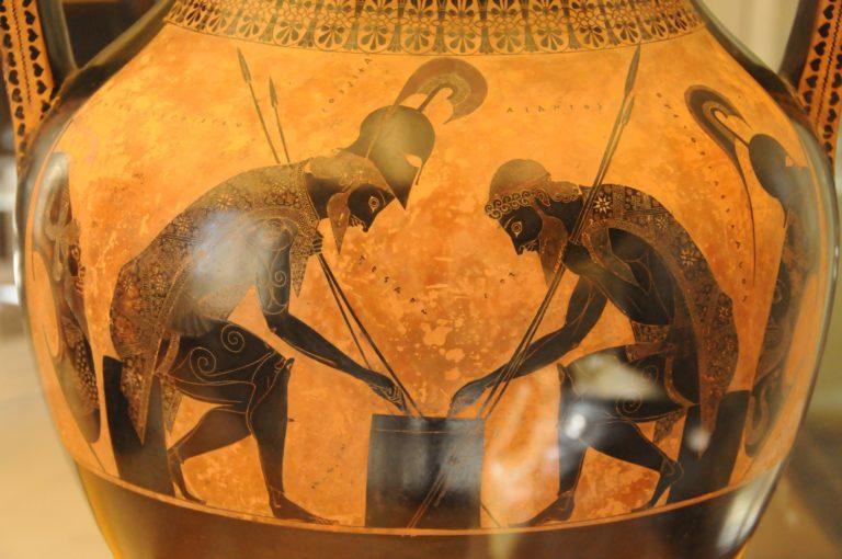 Ахилл и Аякс играют в кости. 540-530 гг. до н.э.