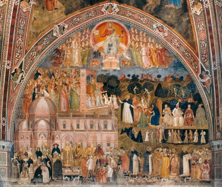 Аллегория церкви воинствующей и Церкви торжествующей. 1366-1368