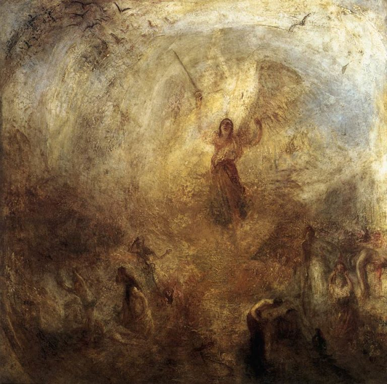 Ангел, стоящий в лучах солнца. 1846