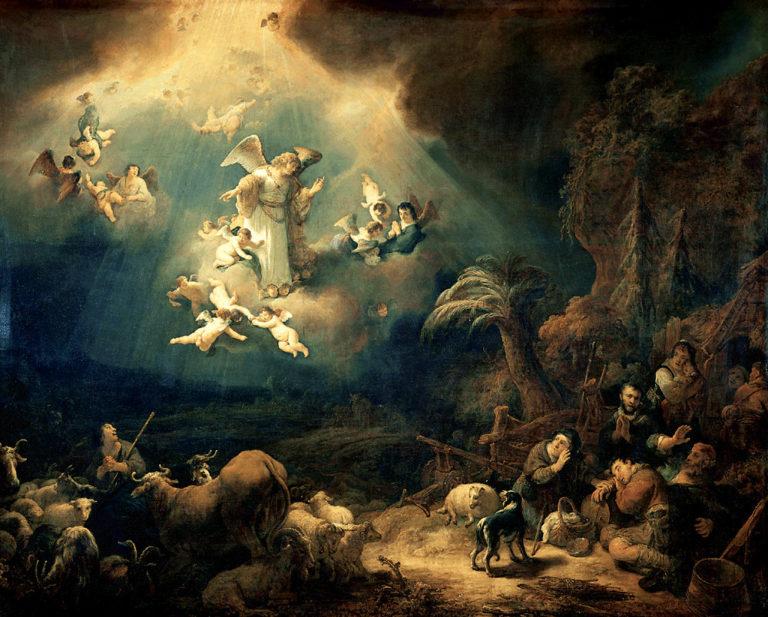 Ангел возвещает пастухам о рождении Христа. 1639