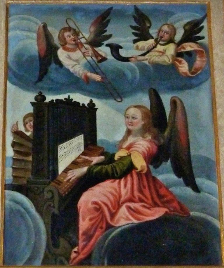 Ангелы играют на духовых инструментах. Ок. 1640