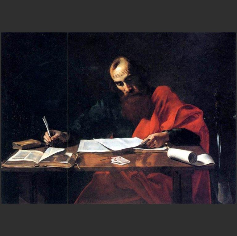 Апостол Павел пишет послание. 1618–1620