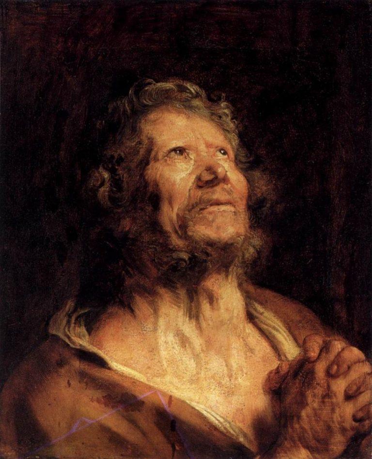 Апостол Пётр со сложенными руками. 1618-1620