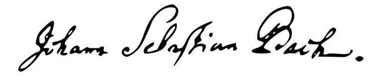 Автограф И.С.Баха