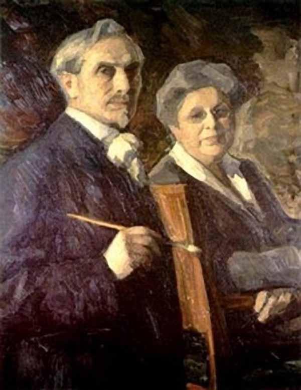 Автопортрет с женой