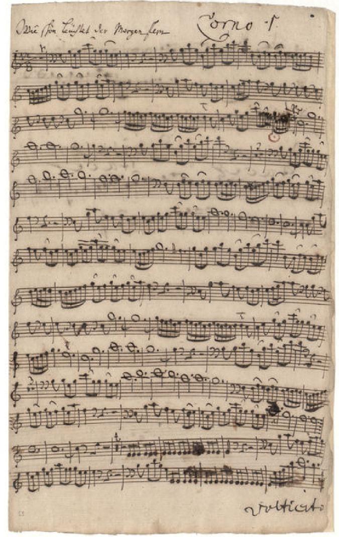 BWV 1. No 6. Corno