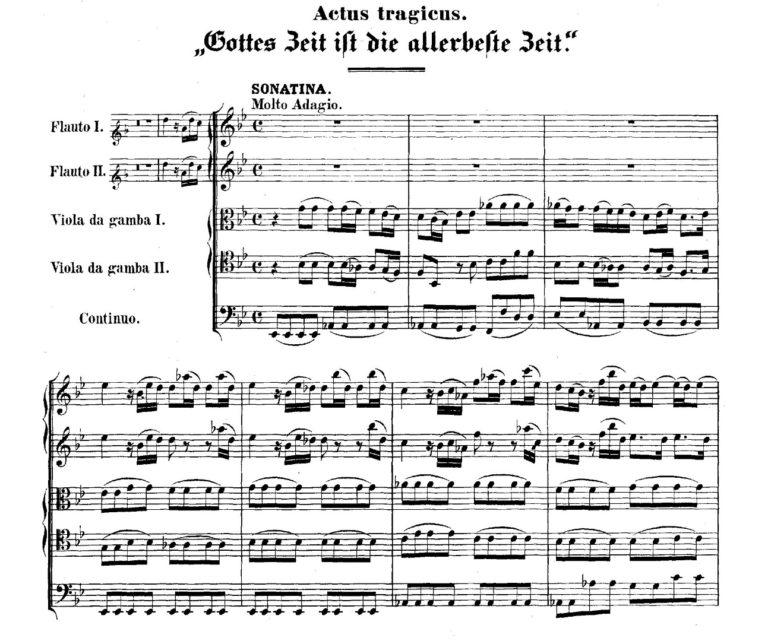 BWV 106. №1 Sonatina