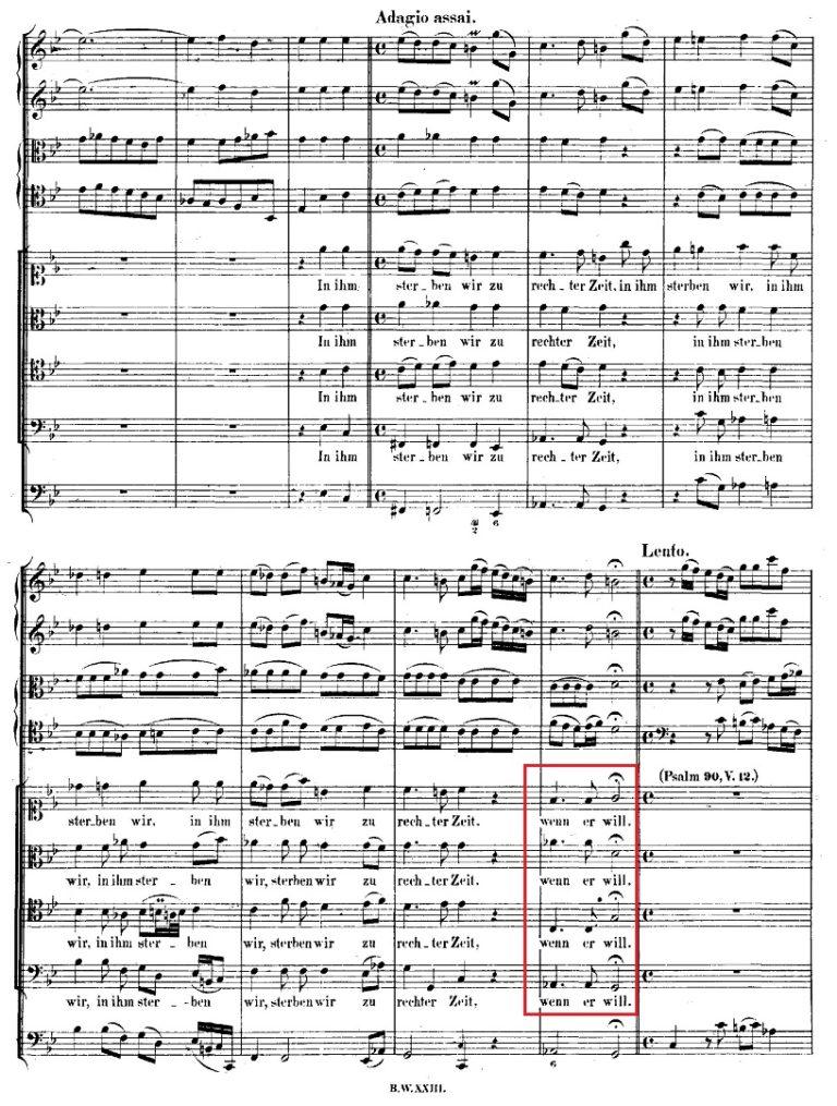 BWV 106. №2а. Coro