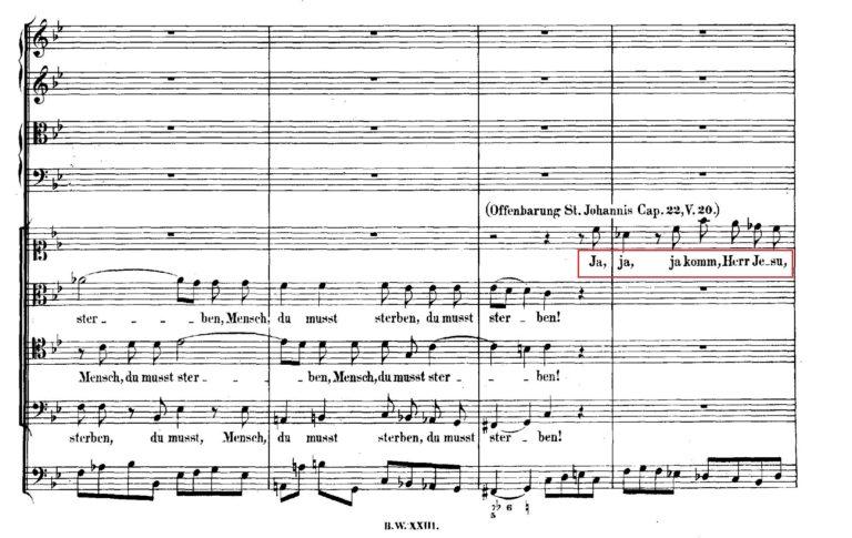 BWV 106. №2d. Coro