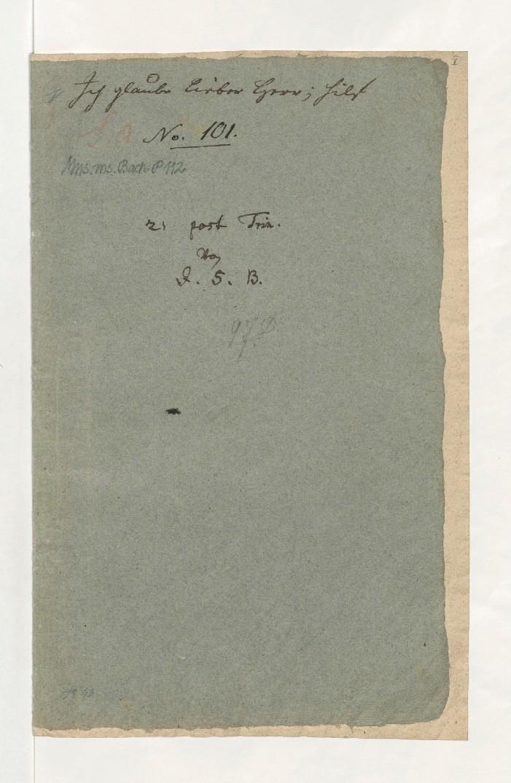 BWV 109. Титульный лист (recto)