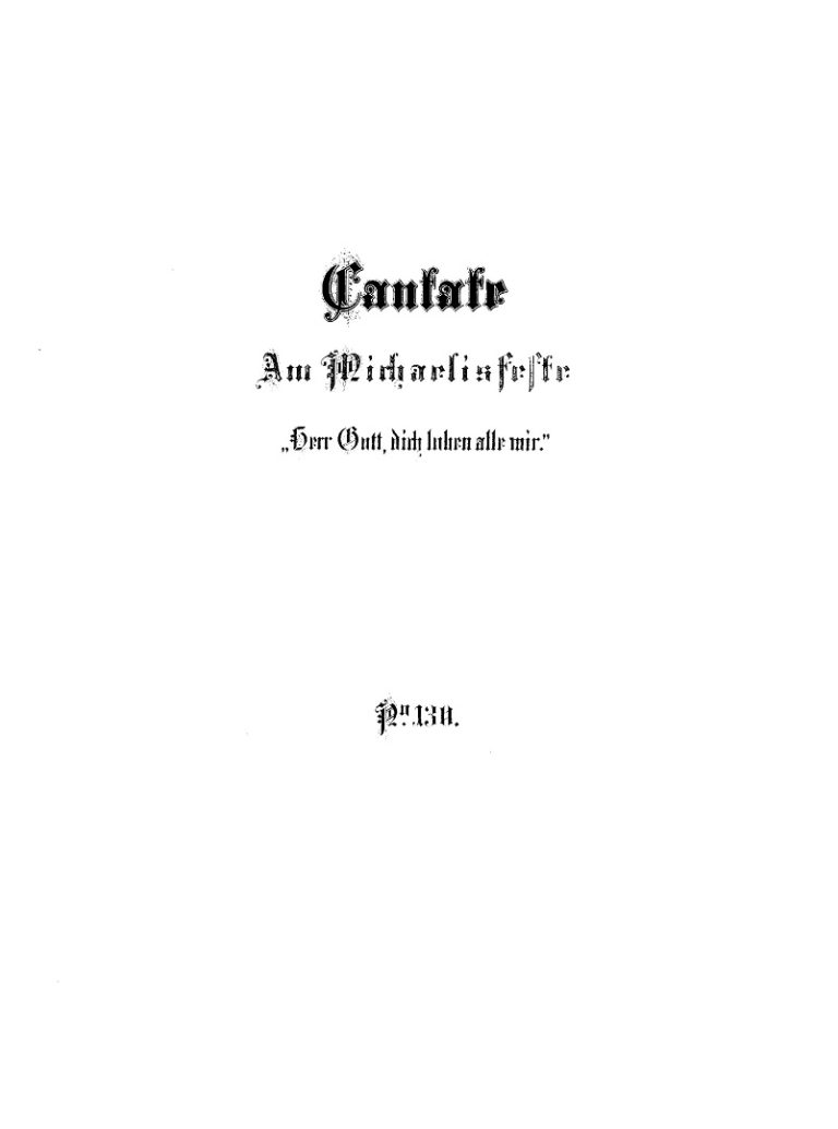 BWV 130. Титульный лист издания 1878 г.
