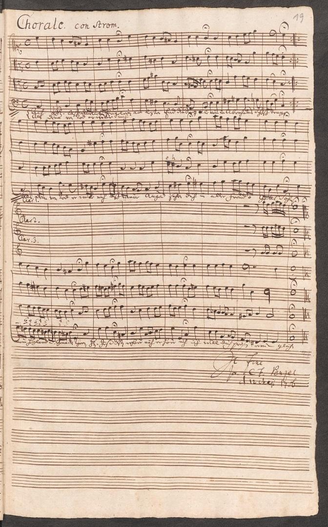 BWV 149. Chorale