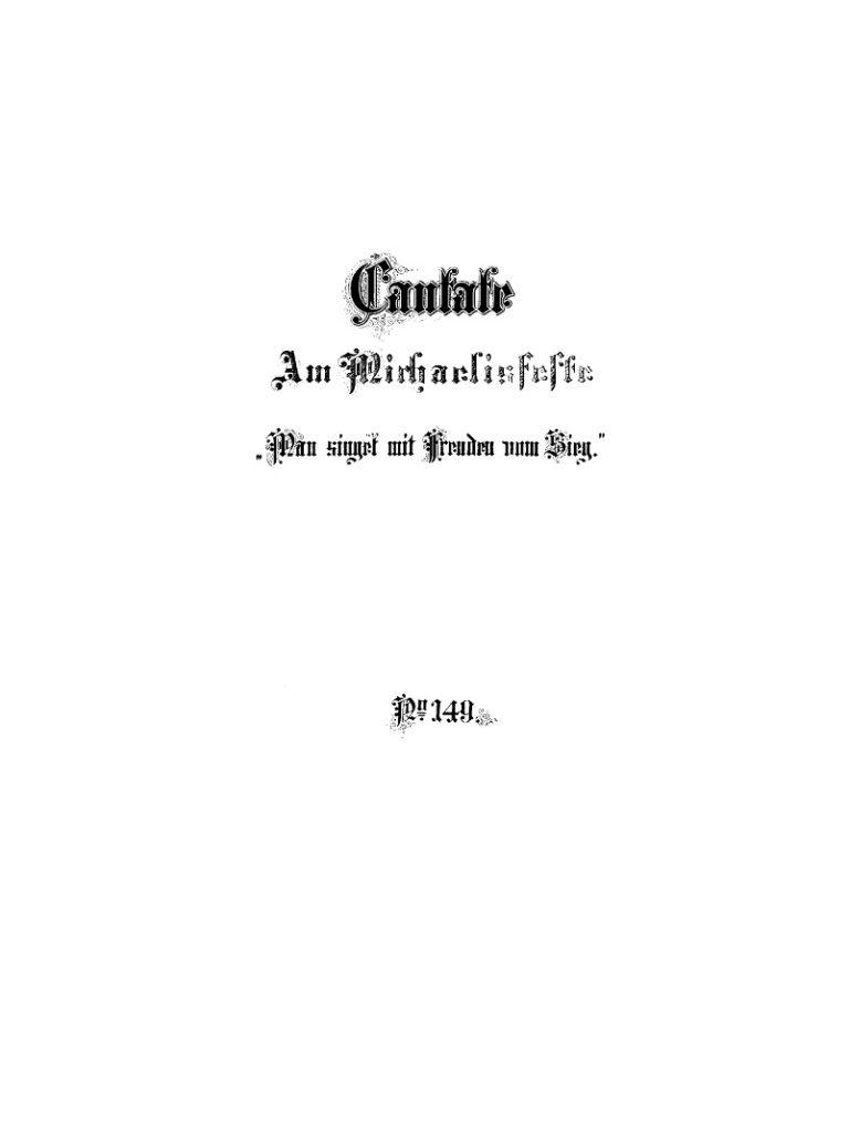 BWV 149. Титульный лист издания 1884 года
