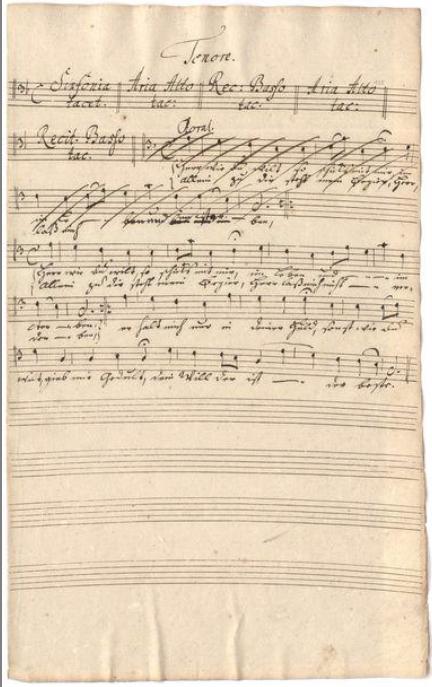 BWV 156. No 2. Ария (тенор)