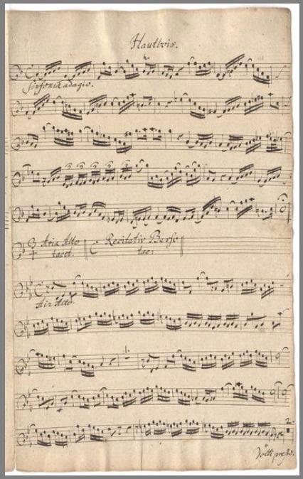 BWV 156. Партия гобоя