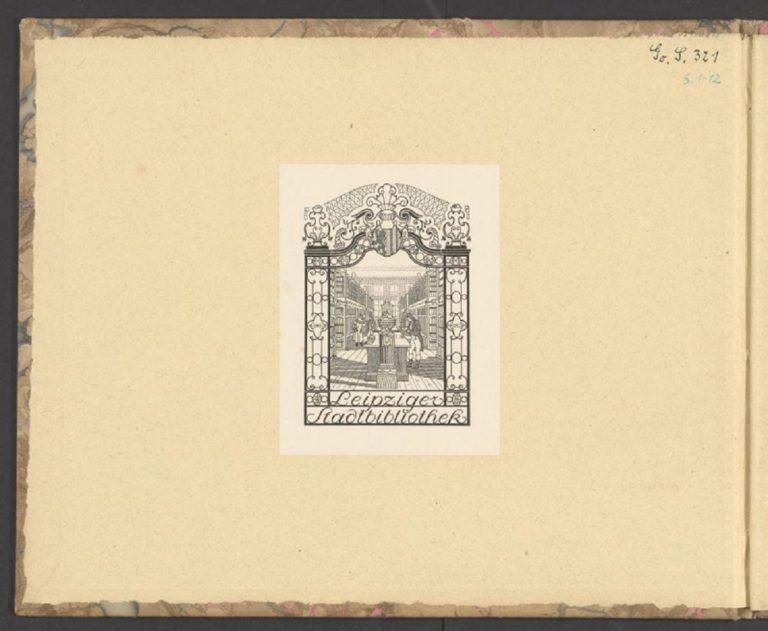 BWV 227. Титульный лист с принтом лейпцигской библтиотеки