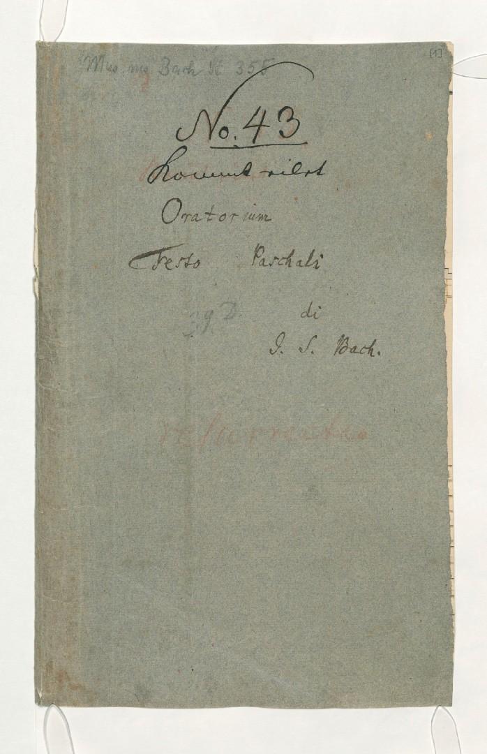 BWV 249 №43, Титульная страница
