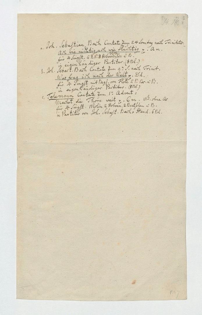 BWV 26. Title page