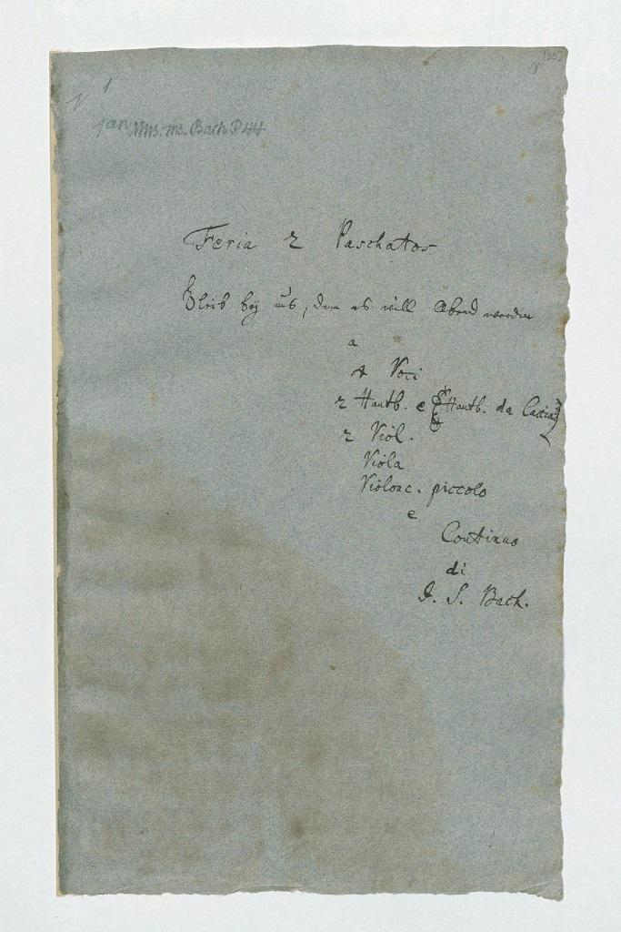 BWV 6. Титульный лист