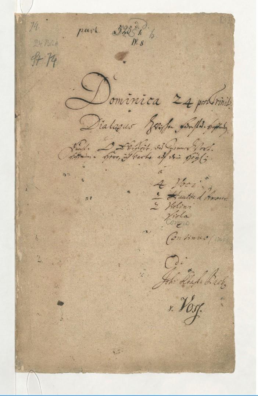 BWV 60. Титульный лист