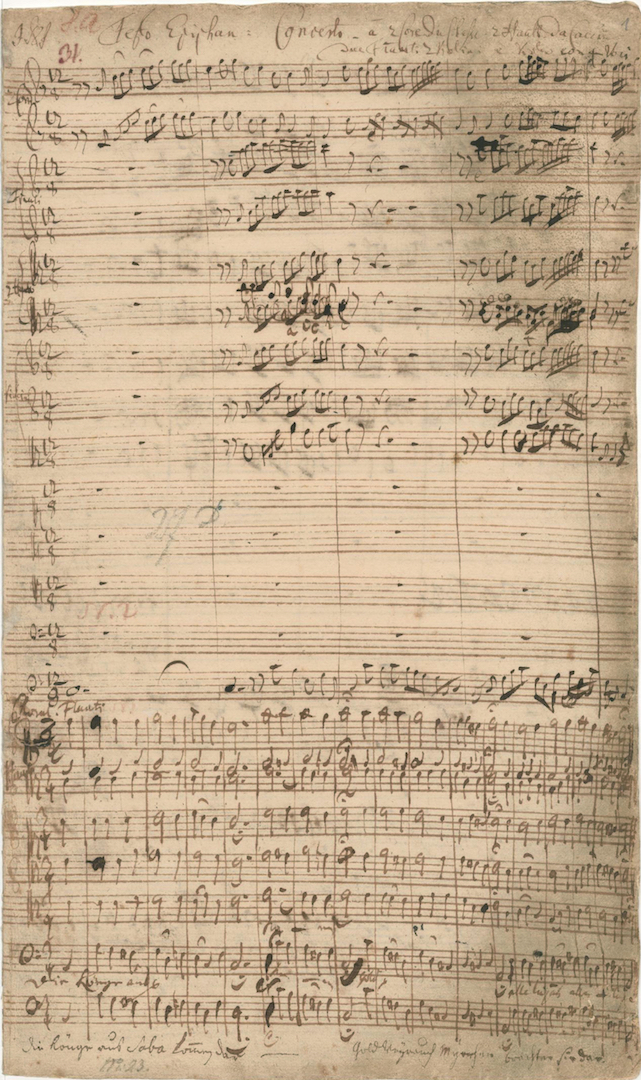 BWV 65. D-B Mus. ms. Bach P 147. 2. Choral, fol. 1r (lower part)
