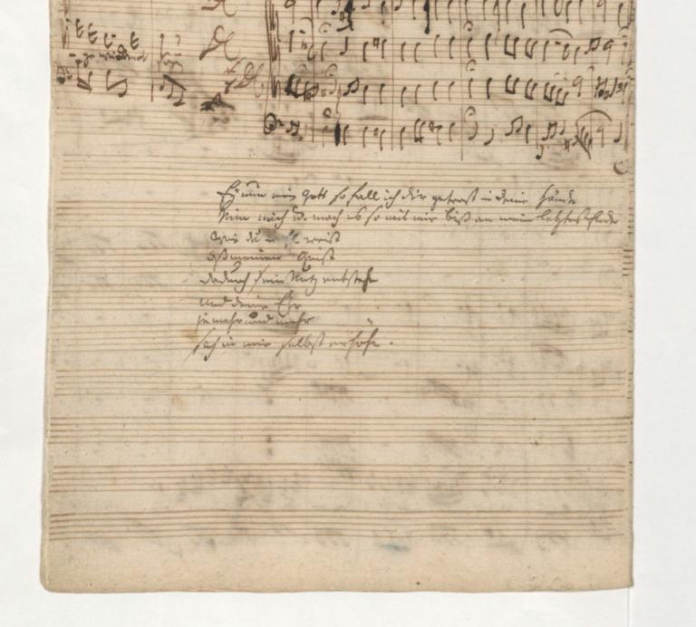 BWV 65. Фрагмент заключительного хорала