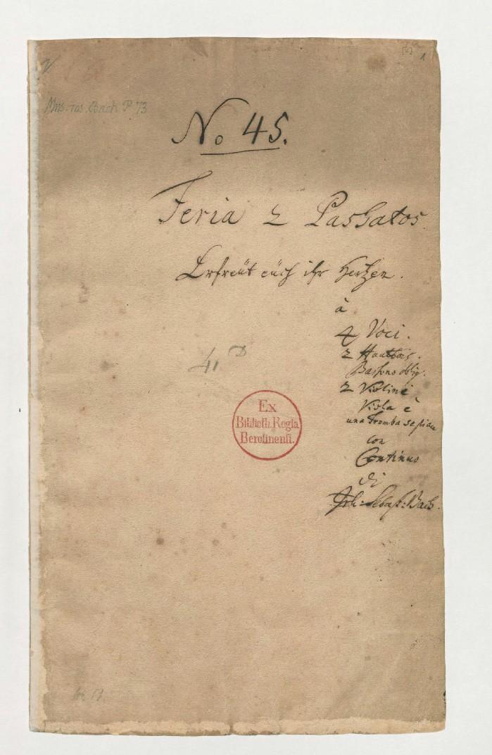 BWV 66 №45 Титульный лист