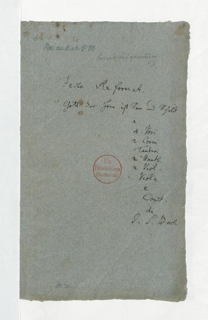 BWV 79. Титульный лист
