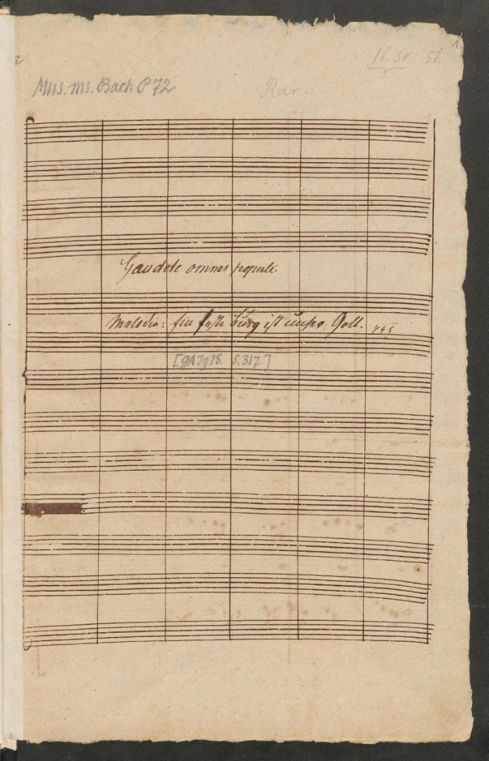 BWV 80. Титульный лист