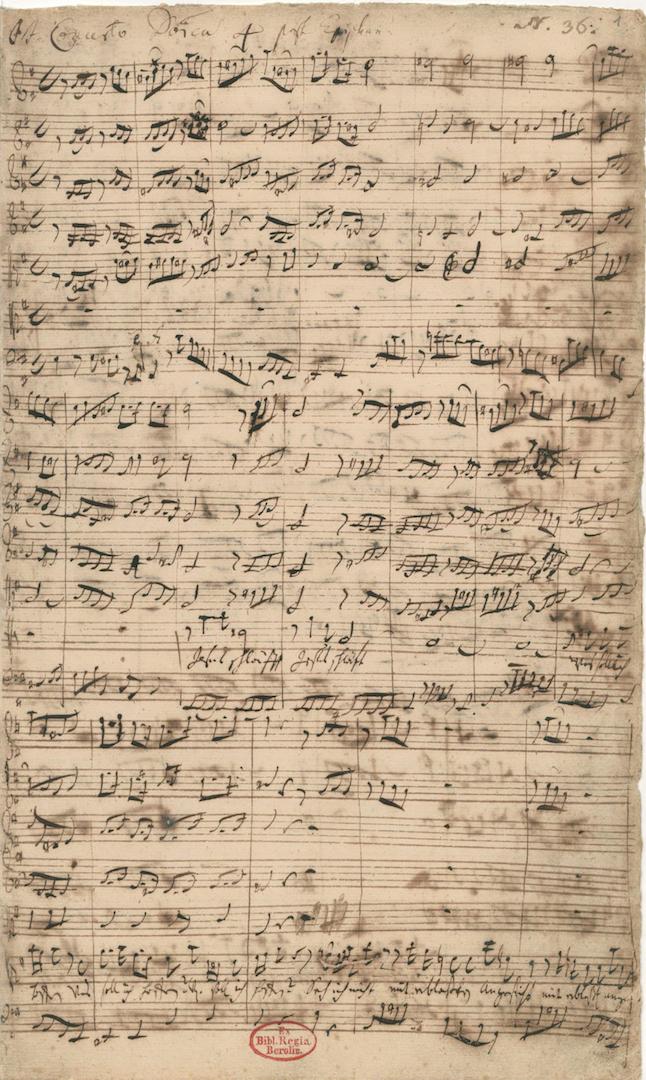 BWV 81_ BWV 65_1. D-B Mus. ms. Bach P 120. 1. [Aria], fol. 1r, m. 1-17