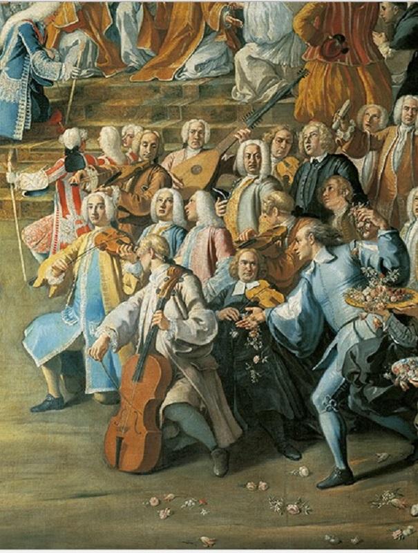 Барочный оркестр. Деталь.1732
