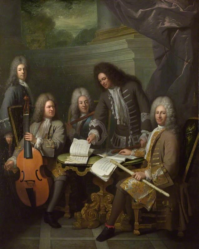 Барр и другие музыканты. 1710