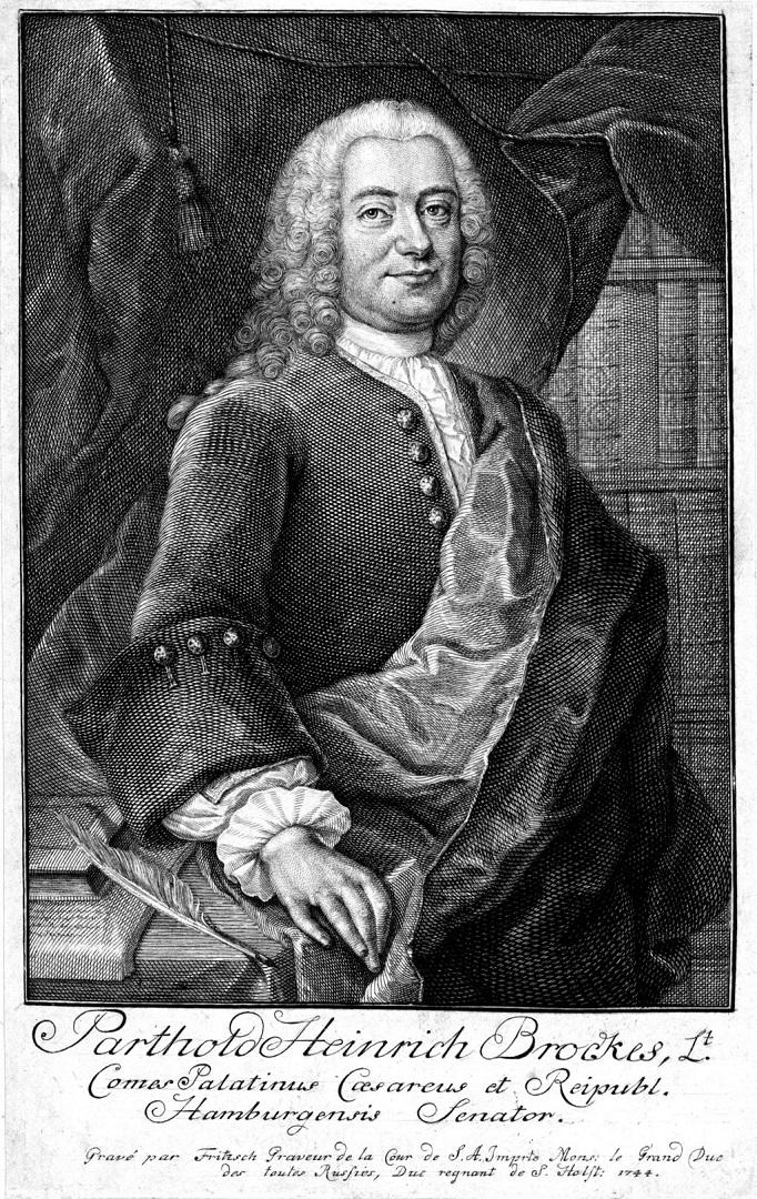Бартольд Хайнрих Брокес (нем. Barthold Heinrich Brockes, 1680-1747). 1744