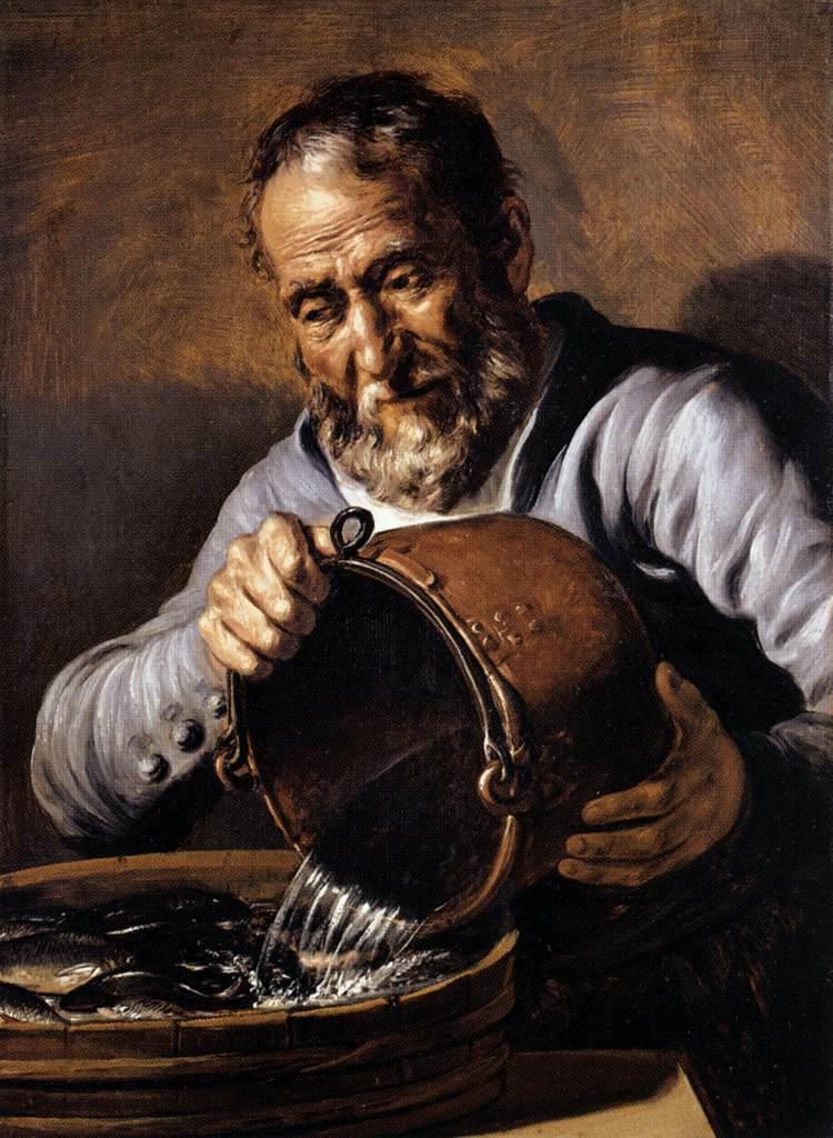 Четыре стихии и возраст человека: вода и старость. Ок. 1668