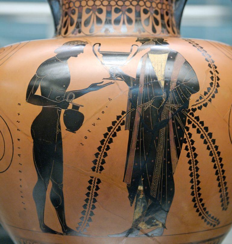 Дионис с сыном Энопионом. Ок. 540—530 до н. э.