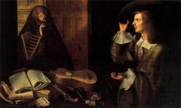 Джентльмен и Смерть. XVII в.
