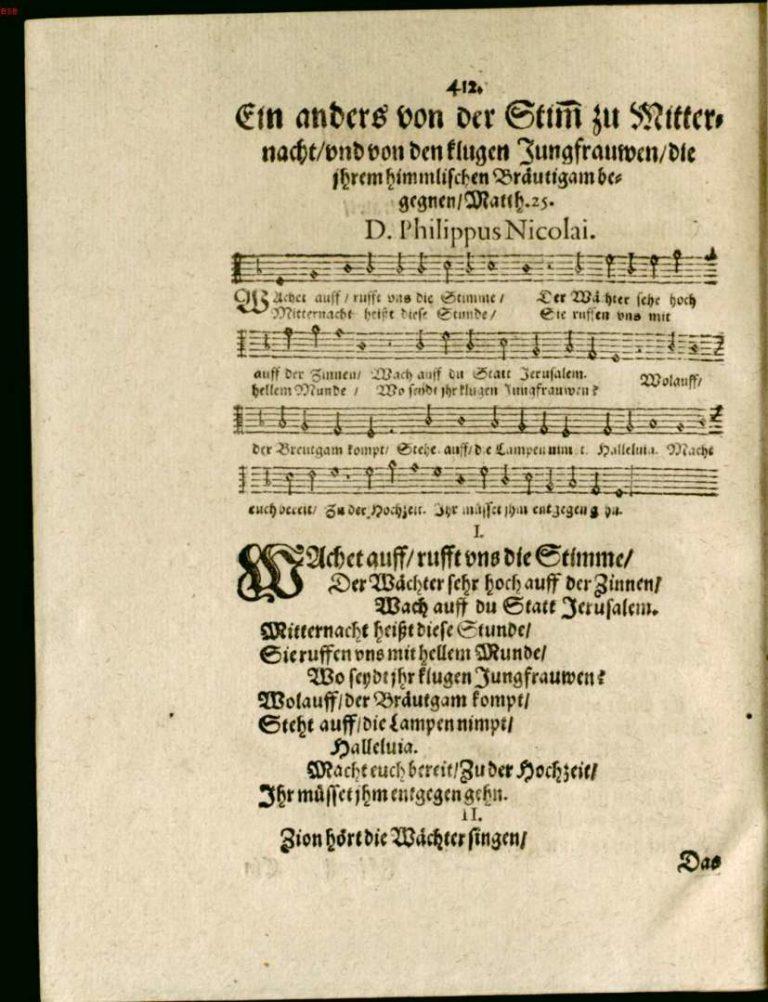 Филипп Николаи. Зерцало радости. 1599. С. 412