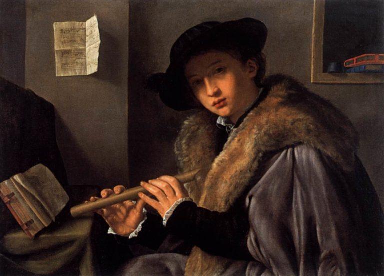 Флейтист. 1519