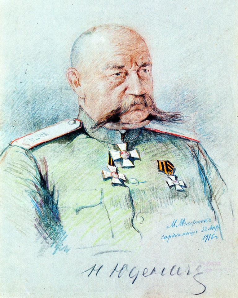 Генерал Н. Н. Юденич. Награждён тремя степенями ордена Св. Георгия. 1916