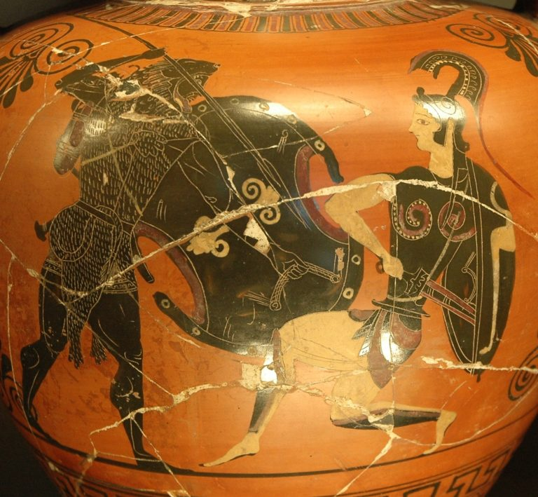 Геракл сражается с амазонкой. 530-520 гг. до н.э.