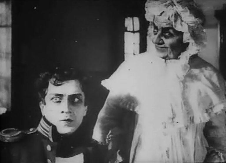 Германн и графиня. Кадр из немого фильма «Пиковая дама». 1916 г.