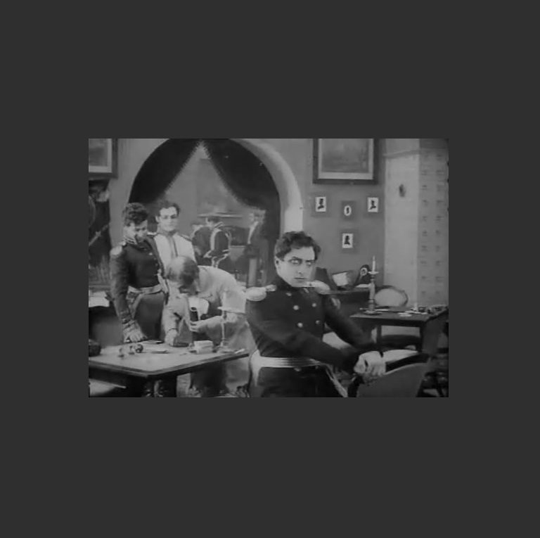 Германн. Кадр из немого фильма «Пиковая дама». 1916 г.