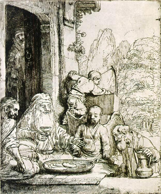 Гостеприимство Авраама. 1656