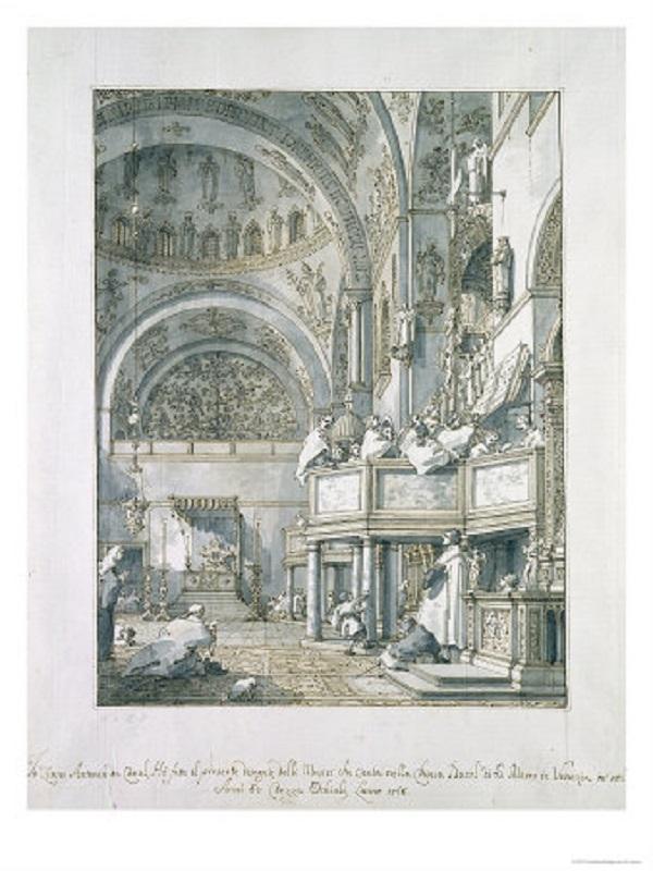 Хор базилики церкви св. Марка в Венеции. 1766