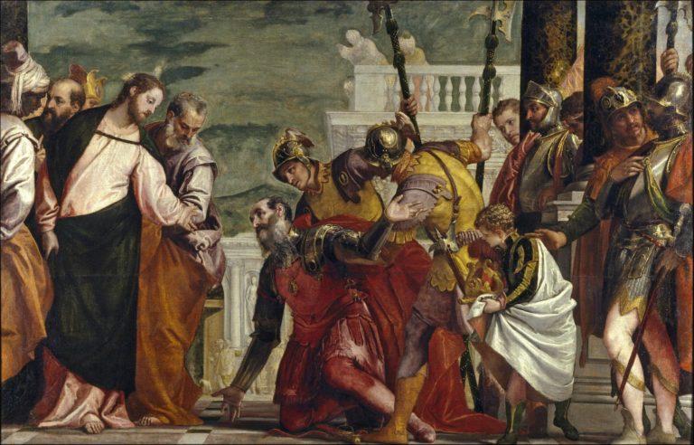 Христос и центурион. 1575