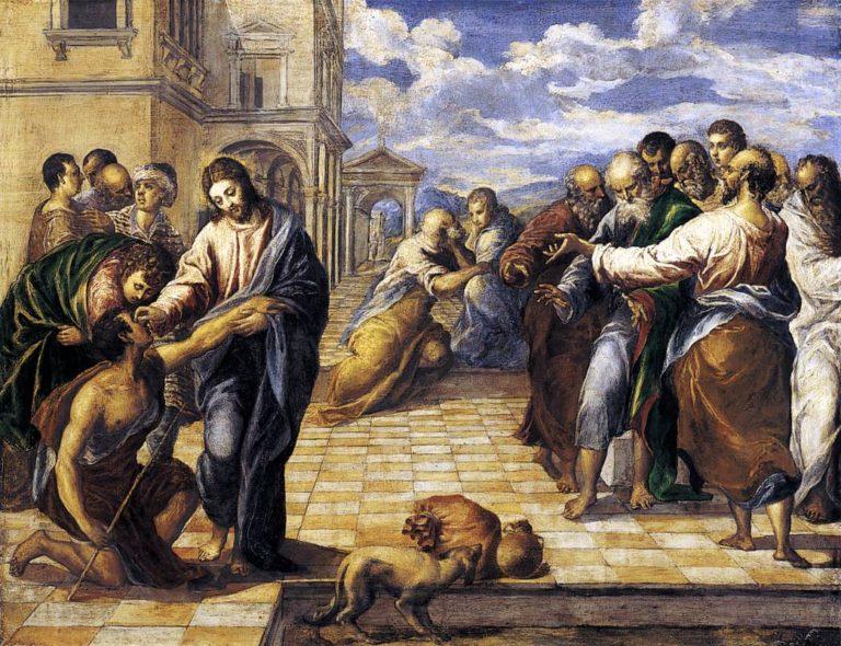 Христос исцеляет слепца. Ок. 1567