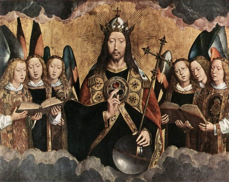 Христос, окружённый ангелами. 1480