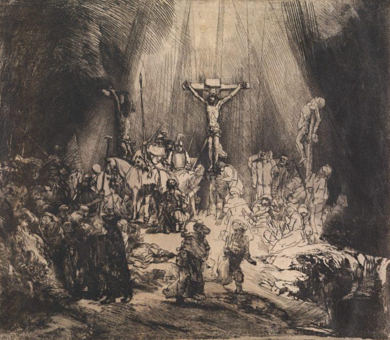 Христос, распятый между двух разбойников, или Три креста. 1653