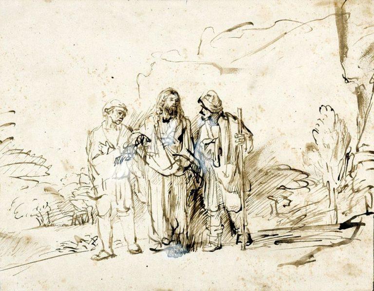 Христос с двумя учениками на пути в Эммаус. Ок. 1655