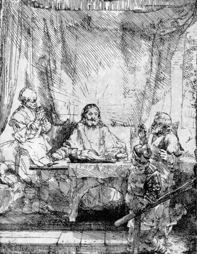 Христос в Эммаусе. 1654